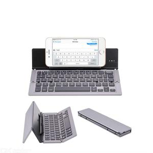 Mini Foldable Wireless Bluetooth Keyboard 58 Keys Ultra-thin Phones Tablet Keyboards For IOS Android Windows