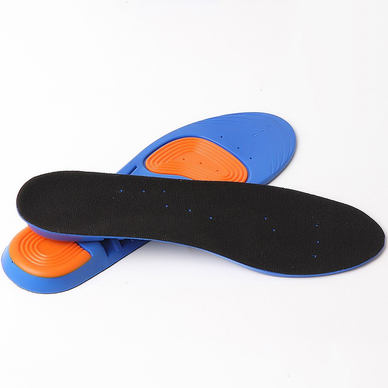 Summer Soft Breathable Insoles Sweat Absorbent Comfortable For Running PU Insole Shock Absorbing Decompression