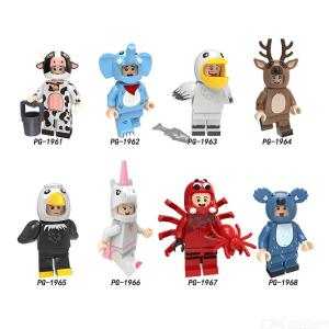 Single Sale Building Blocks Pumping Animals Elephant Spider Milk Cow Koala Dragon Eagle Figures For Children Toys