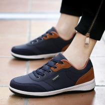 Mens-Casual-Sneakers-Autumn-Winter-Fashionable-Breathable-Lace-Up-Low-Top-PU-Trainers
