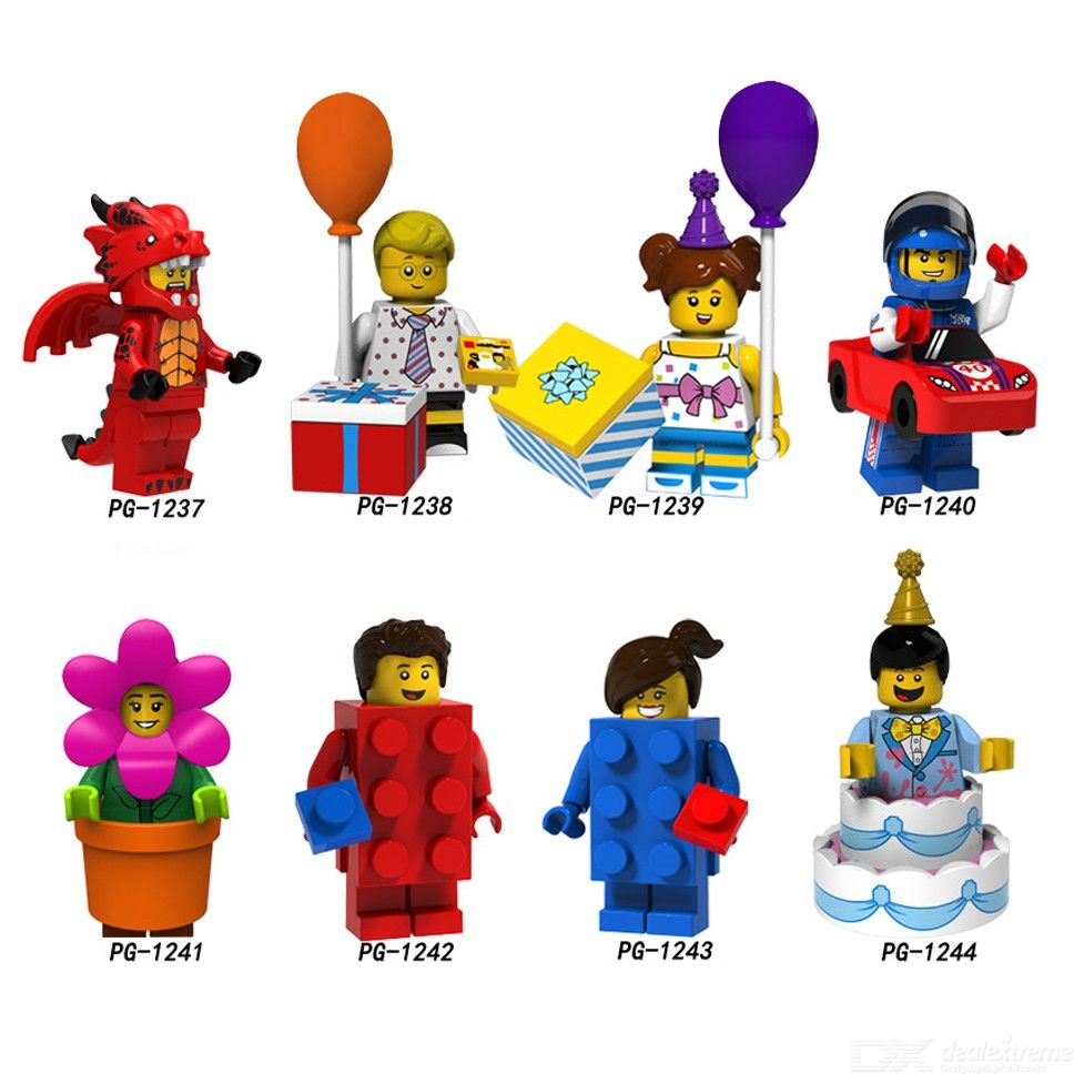 Single Sale Building Blocks Fire Dragon Balloon Boy Girl Racing Man Flowerpot Girl Model Bricks Figures For Children Toys