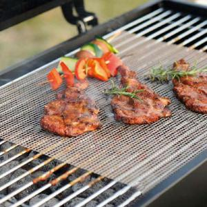 Non-stick Barbecue Grill Mats Practical BBQ Meshes With Heat Resistance For Outdoor(3040cm)