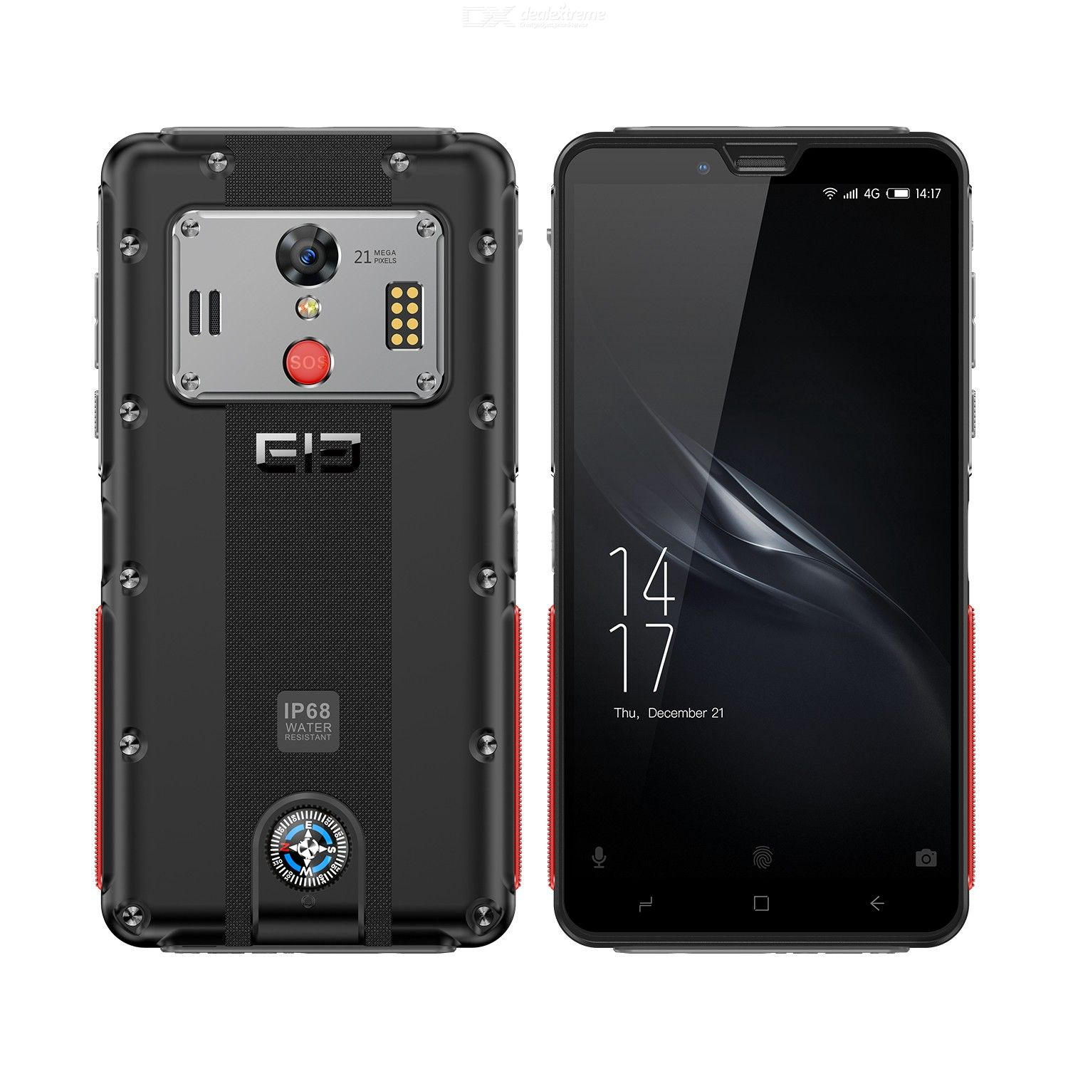Elephone Soldier 4G LTE Phone 2K Screen 4GB RAM 128GB ROM IP68 Waterproof 5000mAh Smartphone