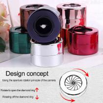 Womens-Jewelry-Box-For-Ring-Diamonds-Wedding-Shiny-Jewellery-Organizer-Stainless-Steel-Container