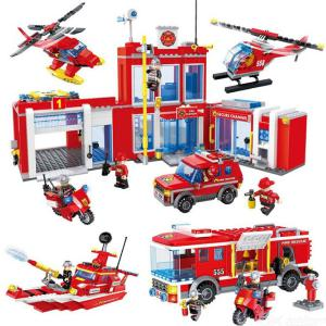 Building Blocks City Fire Rescue Educational Toys For Children 5 Years And Over