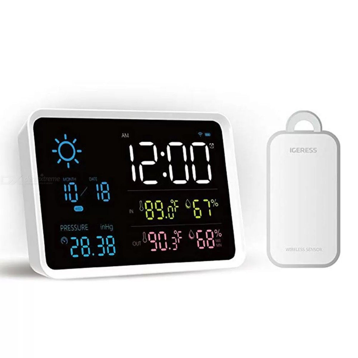 Xiaomi Youpin YUIHome Digital Clock Weather Station Temperature Humidity Display Air Pressure Weather Forecast Alarm Clock