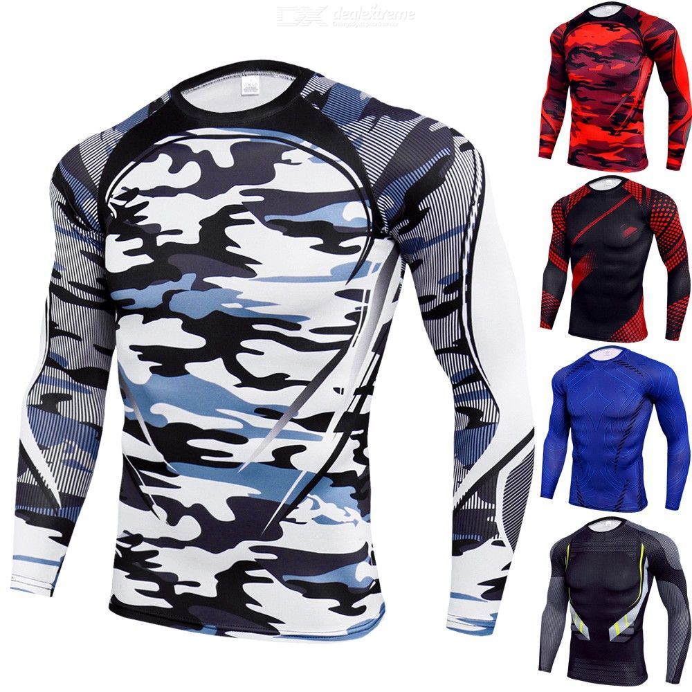Breathable Fitness T-shirt Quick Drying Cycling Jerseys Long-sleeve Sports Tops for Outdoor