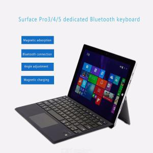 Ultra Slim Wireless Bluetooth Keyboard With Trackpad For Microsoft Surface Pro 3  4  5  6 - Black