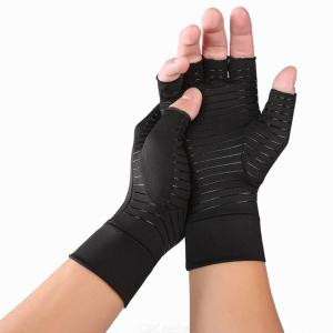 Copper Compression Gloves High Compression Recovery Gloves - 1 Pair