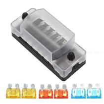 F4143-Z-(A)-6-Way-Circuit-Blade-Fuse-Box-Block-Holder-with-Negative-Bus-and-5A-10A-15A-ATCATO-Fuses-for-Car-RV-Boat