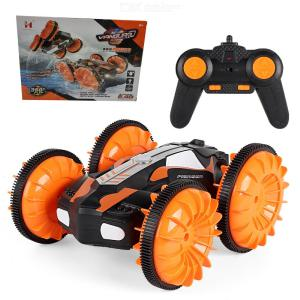666-20 2.4GHz 4WD Waterproof Toy Car Amphibious RC Stunt Car 360 Degree Rotation Remote Control Toys