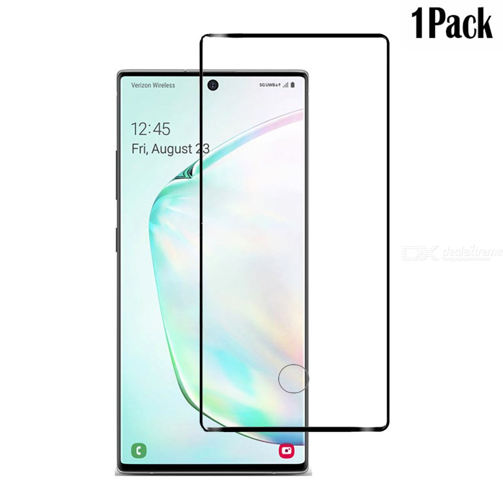 naxtop 3d arc full screen tempered glass protector for samsung galaxy note10+  galaxy note10 pro