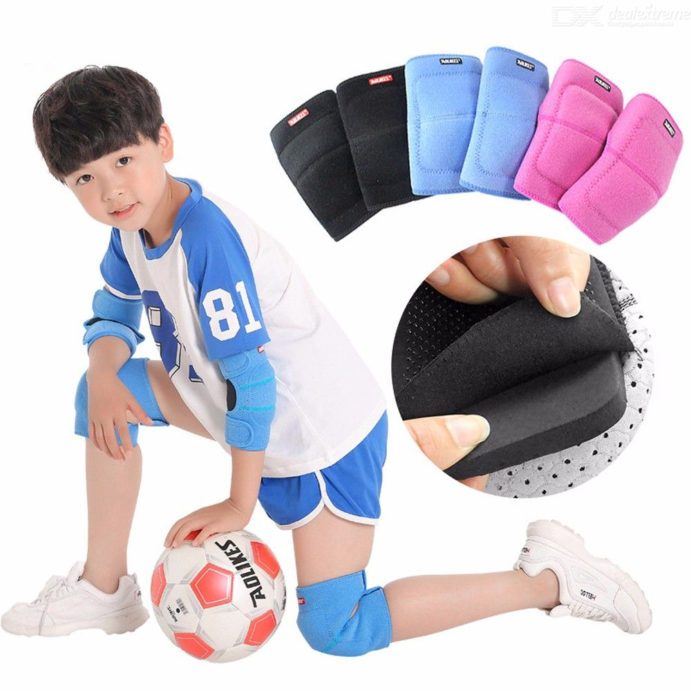 1 Pair Kids Knee Pad Soccer Dance Biking Protection Knee Support Brace