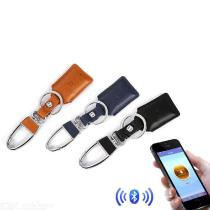 Smart-Anti-lost-Keychain-Holder-Mini-Solid-Color-Leather-Business-Keychain-Organizer