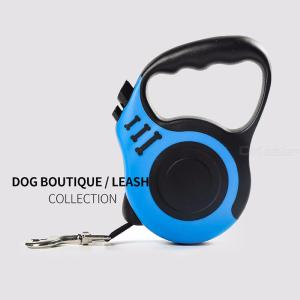 3m 5m Retractable Pet Dog Leash Extending Puppy Walking Leads With Bonus Squeaky Toy