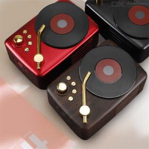 T12 Retro Portable Bluetooth Speaker High Quality Nostalgic Speakers TF Card Music Player