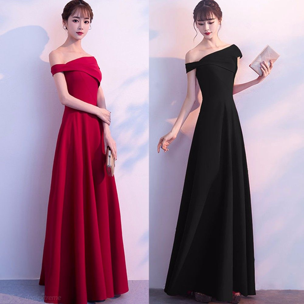 Women's Evening Gowns Empire Waist Off-The-Shoulder A-Line Maxi Dresses For  Wedding Cocktail Party Prom Banquet