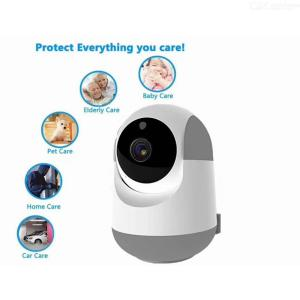 Smart AI Security WiFi 1080P FHD Camera 360 Degree Motion Detecting Two-way Speaking Surveillance Camera Night Vision - US Plug