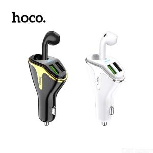 HOCO E47 2-in-1 Portable Bluetooth Headset With Smart Dual USB Car Lighter Slot Charger