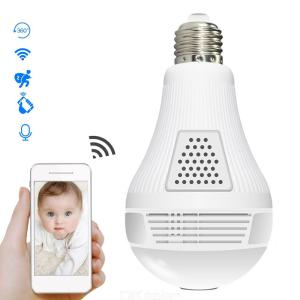 1080P HD 360 Degree Panoramic LED Bulb Shape WiFi IP Camera Baby Monitor With IR Night Vision For Home Use