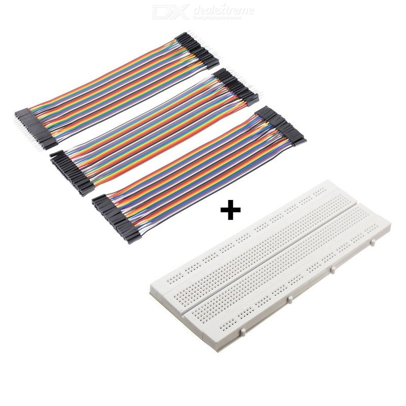 840 Hole Breadboard and 120Pcs 20cm DuPont Cable with Male to Male  Female to Male  F to F for arduino DIY KIT
