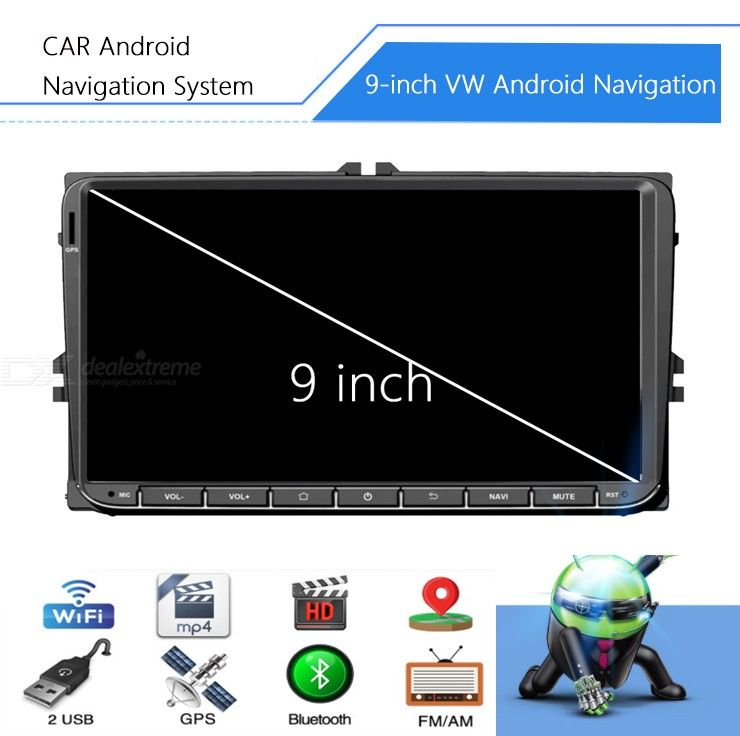 9-Inch Universal Android Car GPS Navigation Multimedia Player with 1GB RAM 16GB ROM