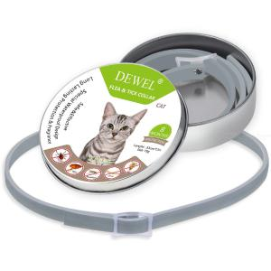 Flea Tick Prevention Collar Adjustable Anti Larva Collar For Cats 8 Month Protection