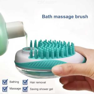 Pet Bath Massage Brush Grooming Comb For Shampooing And Massaging