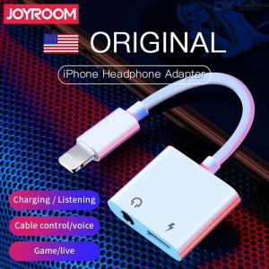 Lightning Headset Adapter Splitter 2 In 1 Lightning To 3.5mm Headphone Audio And Charging Jack Connector For IPhone IPad