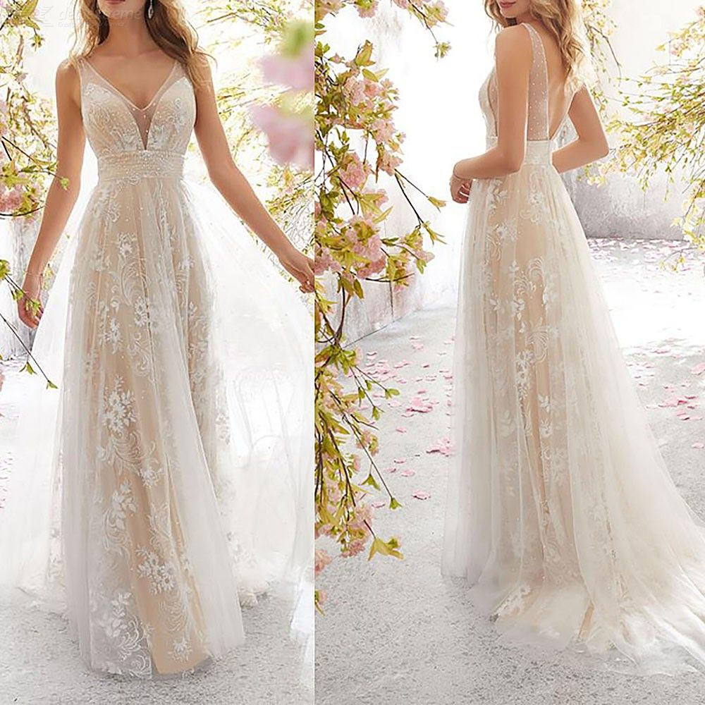 Cocktail | Elegant | Wedding | V-neck | Party | Dress | Prom | Gown | Lace