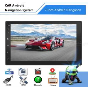 7-Inch Touch Screen WiFi Android GPS Navigation Car Multimedia Player with 2GB RAM 16GB ROM