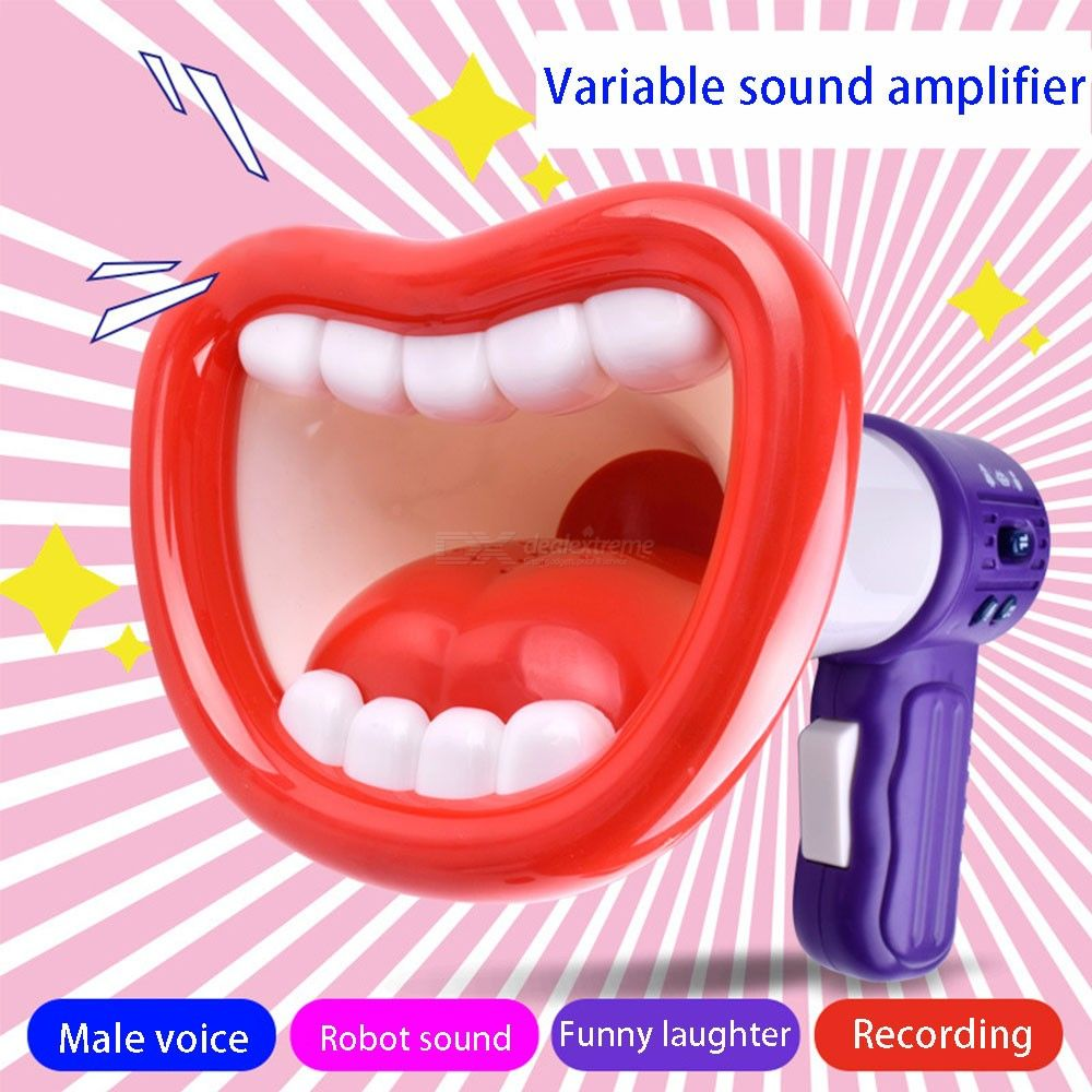 Creative Wacky Voice Recorder Amplifier Megaphone Loudspeaker Children Funny Game Educational Toy