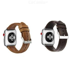 Watch Leather Strap for Apple Series 123 42mm 38mm Strap Bracelet for iwatch Series 4 40mm 44mm