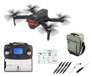 RC Quadcopter Foldable Portable Drone with Optical Flow Brushless Motor GPS Positioning Dual 4K 5G WIFI Cameras