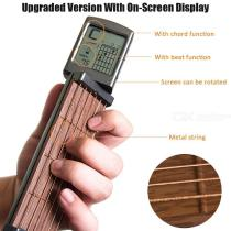 Pocket-Guitar-Portable-Guitar-Chord-Practice-Tool-Neck-With-Rotatable-Screen