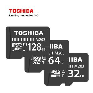 TOSHIBA TF Card M203 MicroSDHC 32GB MicroSDXC 64GB 128GB U1 Class10 UHS-1 Memory Card 100MB 16G Trans Flash For Driving Recorder