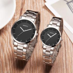 Fashion Minimalist Watch Analog Wrist Watch With Stainless Steel Band For Men Women