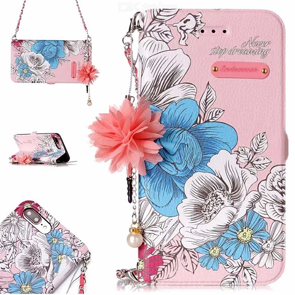 Leather Phone Case For Samsung Galaxy S7 S7edge S8 S8plus Flip Soft Phone Case For Samsung Galaxy S9 S9plus Floral Walle