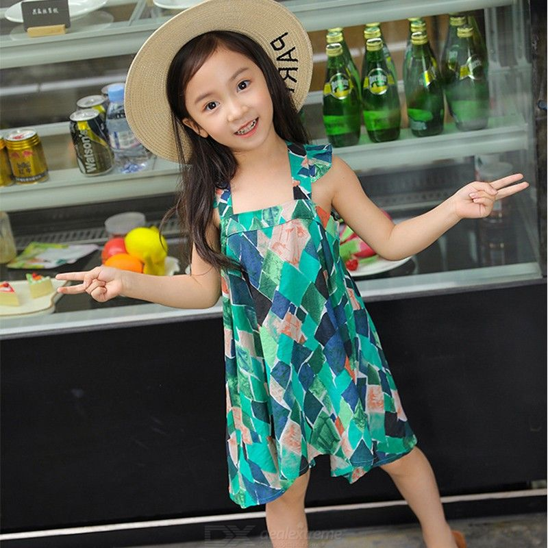 2018 New Cute Childrens Dress Baby Girl Summer Dress Childrens Flying Sleeve Dress Childrens Clothing