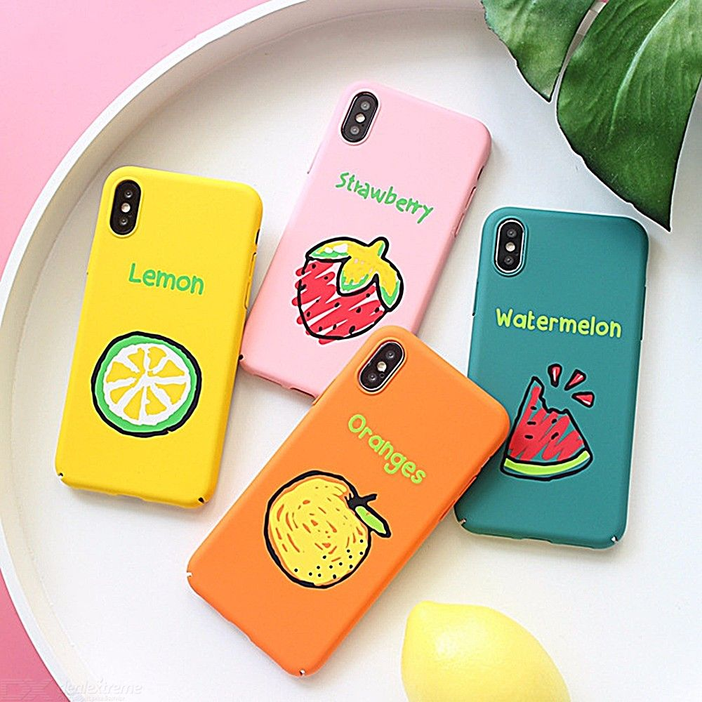 Shockproof Phone Case For Iphone 7 Candy Color Fruit Series Back Cover Case For Iphone 8 Fully Protected Phone Case For