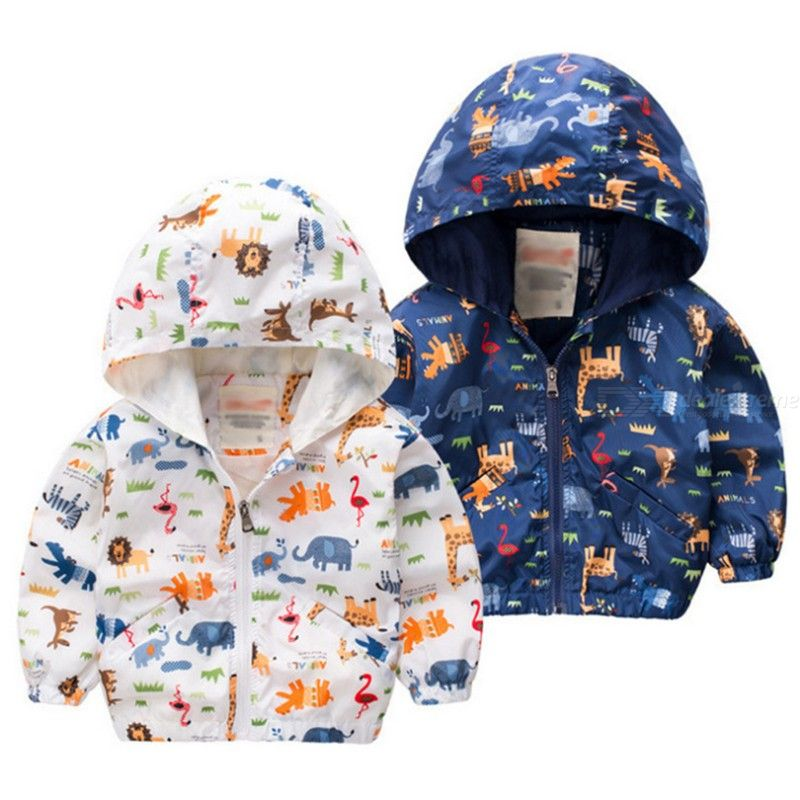 2018 Autumn Fashion Girl Boy Jacket Cartoon Pattern Doodle Coat Fashion Casual Childrens Clothing 1-4 Years Old