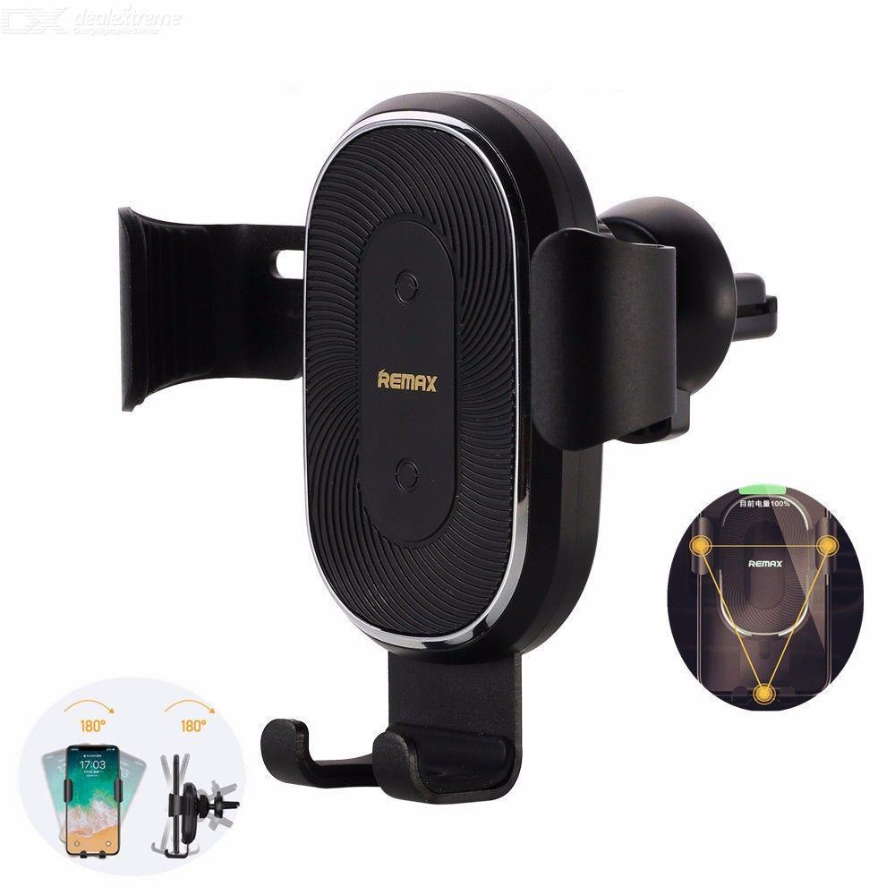 REMAX RM-C38 Portable 10W Car Air Vent Outlet Clamp Phone Holder Wireless Charger For Mobile Phones