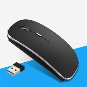 2.4G Wireless Mouse With Nano Receiver 1600 DPI Slim Noiseless Rechargeable Mouse For WIN1078 MAC Android XP System