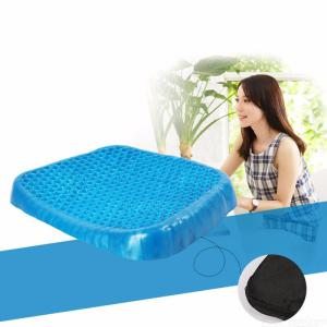 Egg Sitter Gel Foam Seat Cushion With Non-Slip Cover, Breathable Honeycomb Design, Absorbs Pressure Point