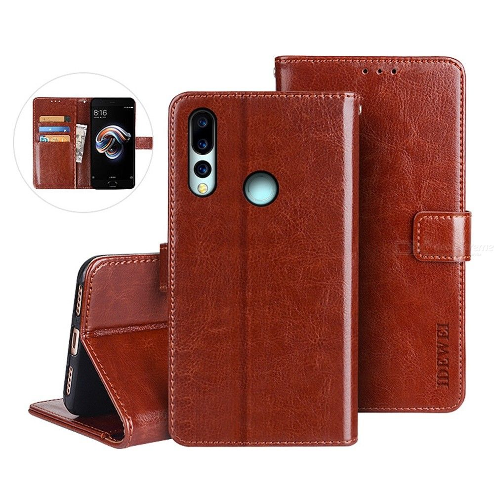 Anti-Scratch Flip-Open Leather Wallet Phone Case With Card Slots And Holder Function For Umidigi A5 Pro