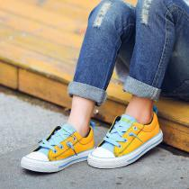 Fashion-Girl-Sports-Canvas-Shoes-Color-Printing-Childrens-Casual-Shoes-Non-slip-Wear-resistant-Girls-Flat-Shoes