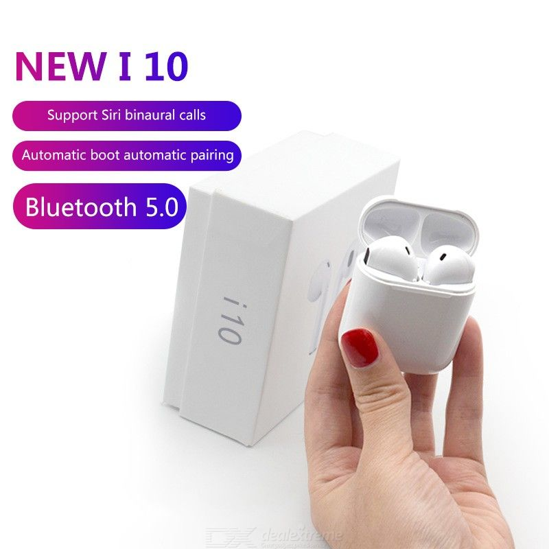 I10 I10tws Bluetooth Earbuds Wireless Headphones Headset Stereo In-Ear Earphones With Charging Box For Android Button C