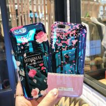 For IPhone 7 8 Plus 6s Blu-ray Flower Phone Case For IPhone XS X 6 6s 7 8 Plus Black Rose Soft Glossy TPU Phone Case