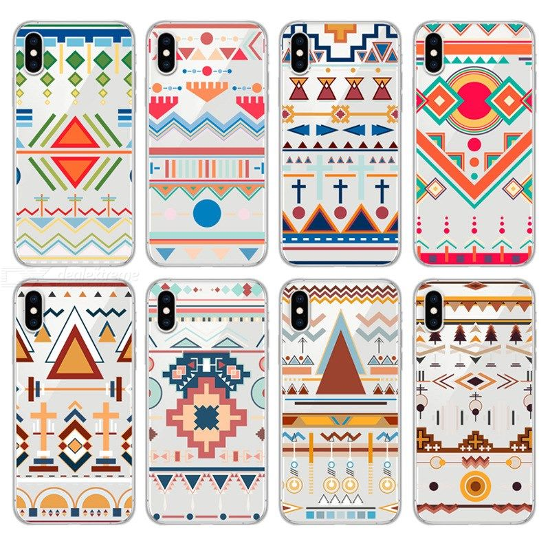 New Geometric Pattern Phone Case For Iphone 7 8 Plus Shockproof Phone Case For Iphone 6 6s 6plus 7 7plus 8 8plus X Soft
