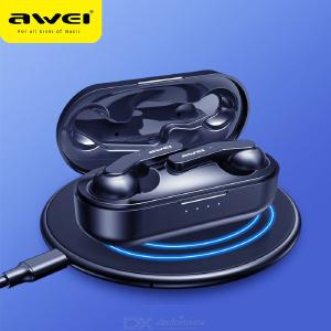 AWEI T10C TWS Mini Wireless Earbuds In Ear Bluetooth Earphones V5.0 Touch Control With 300mAh Charging Case Black